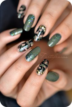 Nail art Army camouflage militaire