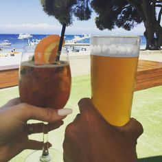 His and Hers . #family #holiday #beer #cocktails #rottnestisland by hannahswonderland http://ift.tt/1L5GqLp