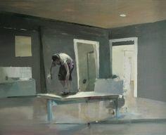 Daniel Pitin's film stills, Oil on Canvas