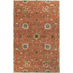 Surya Caesar CAE11 Floral Indoor Area Rug Camel / Burnt Orange - CAE1119-6SQ