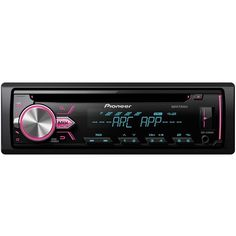 Pioneer - In-Dash CD/DM Receiver with Detachable Faceplate - Black