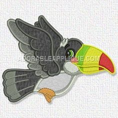 """Toucan Size (in): 4.25""""(w) x 5.51""""(h)"""