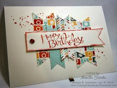 I have made this card over and over again for all occasions, all genders and in every color! Very versatile!
