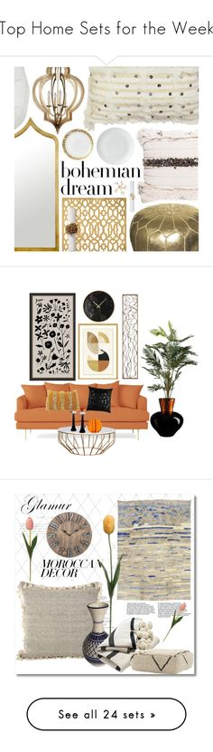"""Top Home Sets for the Week"" by anchy03 ❤ liked on Polyvore featuring interior, interiors, interior design, home, home decor, interior decorating, Serena & Lily, Saro, Vietri and Table Art"