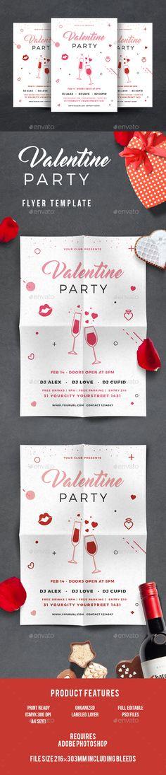 #Valentines #Flyer - Events Flyers Download here: https://graphicriver.net/item/valentines/19322160?ref=alena994