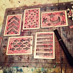 Make Art Stencils From Playing Cards by Bare Branch Blooming: Tools- Playing Card Stencils