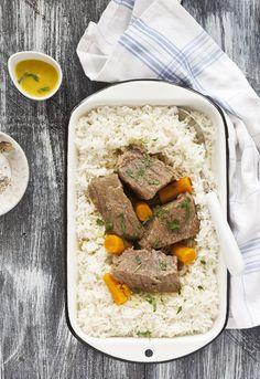 """Receta 176: Arroz blanco con ternera » 1080 Fotos de cocina  - proyecto basado en el libro """"1080 recetas de cocina"""", de Simone Ortega. http://www.alianzaeditorial.es/minisites/1080/index.html"""