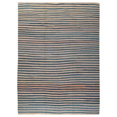 Modern Turkish Flat-Weave Kilim Style Rug | From a unique collection of antique and modern turkish rugs at https://www.1stdibs.com/furniture/rugs-carpets/turkish-rugs/