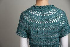Doris Chan's Chamomile Cardi broomstick lace #crochet sweater pattern
