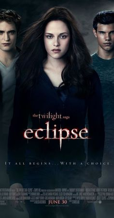 Directed by David Slade.  With Kristen Stewart, Robert Pattinson, Taylor Lautner, Xavier Samuel. As a string of mysterious killings grips Seattle, Bella, whose high school graduation is fast approaching, is forced to choose between her love for vampire Edward and her friendship with werewolf Jacob.