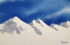 Mountain and Sky. watercolor by Teresa Ascone