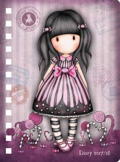 Discover thousands of images about Gorjuss School Year Diary Cute Images, Cute Pictures, Decoupage, Holly Hobbie, Copics, Whimsical Art, Illustrations, Clipart, Rock Art