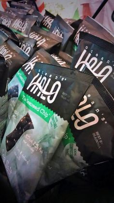 "Bulu Box says: ""These @Ocean's Halo seaweed chips are rocking our socks off!! #ExpoEast #nomnom"""