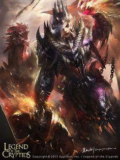 Dragon Knight 02, Qiujian Yuan on ArtStation at https://www.artstation.com/artwork/Jnlz