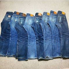 "114 Suka, 2 Komentar - DC4 - Japanese Denim Store (@dc4_berlin) di Instagram: ""Dream collection of beautifully worn in Samurai Jeans by @no.758 #collectiongoals #selvedge #indigo…"""