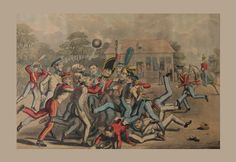 After Cruickshank, Foot Ball - Early 19th Century Coloured Print Published By Thomas Mclean | Art | Football Memorabilia