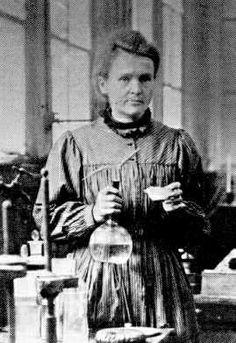 Marie Curie en su laboratorio. Simplemente genial.