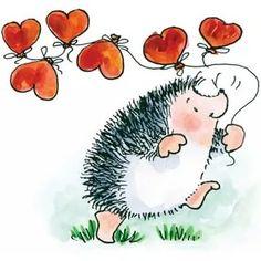 картинки рисунок милого ёжика: 2 тыс изображений найдено в Яндекс.Картинках Penny Black Karten, Penny Black Cards, Penny Black Stamps, Art Fantaisiste, Hedgehog Art, Happy Paintings, Watercolor Cards, Whimsical Art, Digital Stamps