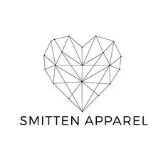 Geometric Heart Premade Logo Clothing Brand fashion by Eggit