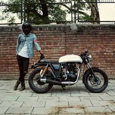 """628 Likes, 1 Comments - Lord of Wheel (@lordofwheel) on Instagram: """"@masked_brat and his Royal Enfield #lordofwheel #motorcycle #moto #bike #builtnotbought…"""""""