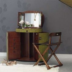 makeup trunk u0026 dressing table travel from cribcandy a gallery of hand picked houshold and interior design items from magazines and webogs