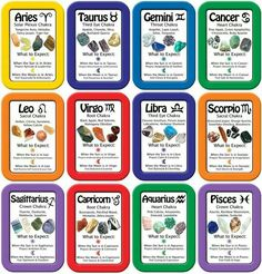 Gemstones for each zodiac, chakra zodiac . Etc..