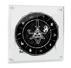 Bill Cipher Gravity Falls hand cut paper art wall artwork