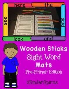 This fun sight word center will get your students excited about reading! Just print and laminate the mats, write the words on jumbo wooden sticks, and copy the recording sheets for your students. Included in the packet are the following: 1 direction sheet, 10 sight word mats, 1 recording sheet, and a blank black and white copy.