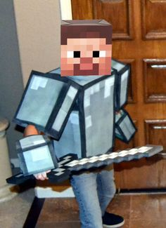 """Picture of Easy """"No Sew"""" Soft Foam Minecraft Armor"""