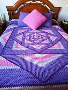 Crochet Shell Blanket, Crochet Ripple Afghan, Crochet Furniture, Bobble Stitch, Chrochet, Afghans, Bed Sheets, Crochet Projects, Free Crochet
