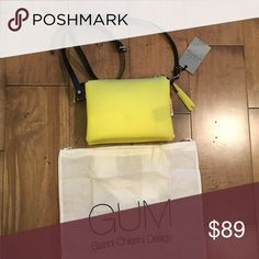 GUM GIANNI CHIARINI DESIGN crossbody bag yellow Brand new with tags.  Made in Italy. Includes dust bag. gianni chiarini design Bags Crossbody Bags