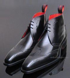 Jeffery West Black Brogue Chukka Jeffrey Shoe #exquisite #DecoArt24.pl #sophisticated