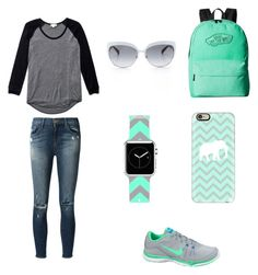 """Untitled #35"" by maha539 ❤ liked on Polyvore featuring moda, Wilfred, J Brand, NIKE, Vans, Casetify i Kate Spade"