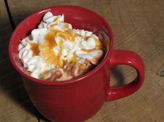 salted caramel hot chocolate!
