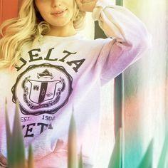 Sorority Shirt Designs, Sorority Shirts, Tee Shirts, Custom Clothing Design, Custom Clothes, Delta Zeta Shirts, Custom Greek Apparel, Greek Clothing, Greek Life