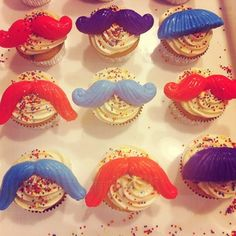 mustache cupcake toppers.