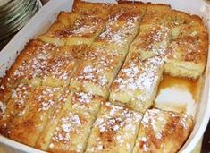 Perfect French Toast Casserole ~ nom nom! Prep the casserole the night before, refrigerate overnight and bake it in the morning. I love this!
