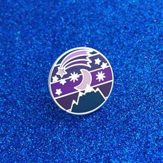Night Sky Enamel Pin Badge - Ombre Pin, Purple Lapel Pin, Starry Sky by fairycakes on Etsy https://www.etsy.com/listing/285780931/night-sky-enamel-pin-badge-ombre-pin