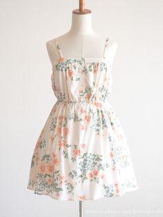 INGNI Spring Summer Floral OP Dress Hime gyaru Lolita SizeM Japan fashion #INGNI #Peplum #Party