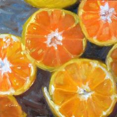 """Daily Paintworks - """"Any Way You Slice It"""" - Original Fine Art for Sale - © Cietha Wilson"""