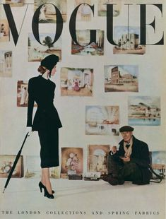 Vogue March 1948. Cover: Clifford Coffin