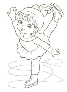 Ice Skater Coloring Page Lovely Figure Skater Coloring Pages to and Print for Free Sports Coloring Pages, Coloring Book Pages, Coloring Pages For Kids, Coloring Sheets, Adult Coloring, Art Drawings For Kids, Christmas Coloring Pages, Winter Art, Digi Stamps