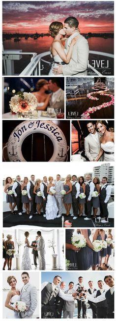 a breathtaking yacht wedding www.captloufleet.com/sapphire-princess @sapphireprincesscruises of long island call 516-623-5823 for info !
