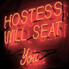 Hostess Will Seat You Photographic Print on Wrapped Canvas