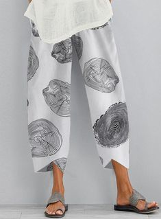 Floral Print Pants, Printed Pants, Trousers Women, Pants For Women, Plus Size Pants, Plus Size Casual, Linen Pants, Mode Outfits, Mode Style