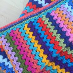 Handmade Crochet Baby Blanket Granny Stripes with by Sewadeer