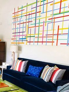 Washi wall art