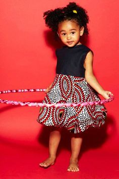 Lovely african print outfit for a little one