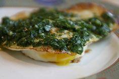 Fried Egg with Cilantro Pesto @ShockinglyDelicious