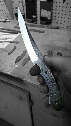 Brute Force Blades Grinding a Thrash fillet knife